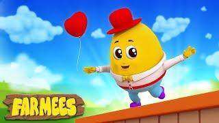 Humpty Dumpty Sat On A Wall | Nursery Rhymes | Kids Songs | Baby Rhymes by Farmees
