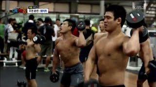 training at the korean judo team weightlifting room 이것이 국가 대표다! 태릉선수촌의 웨이트 트레이닝