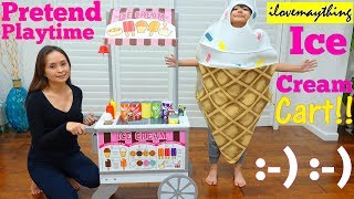 Kids' Toy Channel: Ice Cream Cart Playset. Food Cart, Food Seller Pretend Playtime Fun! TOYS!