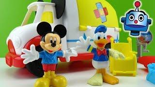 Mickey Mouse Mickey-Ambulancia Mouska-Medics - Juguetes de Mickey Mouse