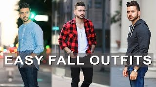 3 Easy Fall Outfits For Men 2017 | Men's Fall Lookbook | Men's Fashion Inspiration | Alex Costa