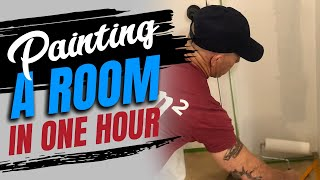 Tips Painting A Room In 1 Hour.  DIY How To Paint Walls Fast.