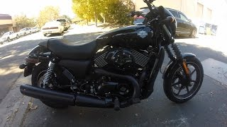2016 Harley Davidson Street 750 - First Test Ride - Compared to Street 500 - Pacheco California