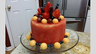 How to make a watermelon cake.