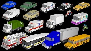 3D Street Vehicles - Cars and Trucks - The Kids