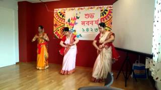 Priyanka, Raisa and Suravi Dancing in Pohela Boishak 1423 program, Västerås