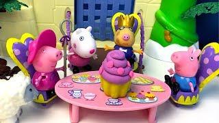 PEPPA PIG FIESTA DE TE  Y CUENTO CON BRUJA MALVADA SECUESTRA A CERDITA PEPPA  - STORY TIME PLAY SET
