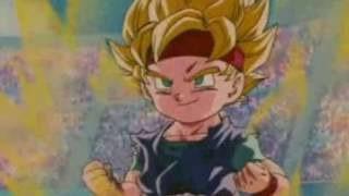 DBZ Goku Jr. vs Vegeta Jr.