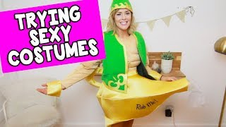 TRYING SEXY (MALE) HALLOWEEN COSTUMES // Grace Helbig