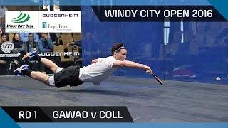 Squash: Gawad v Coll - Windy City Open 2016 - Men's Rd 1 Highlights
