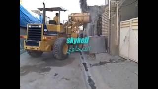 تهديم بيت في ضواحي العاصمة بغداد