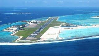Landing at Male Maldives Airport
