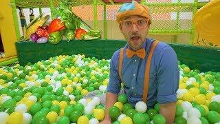 Learn Vegetables for Children with Blippi   Healthy Eating Videos for Kids