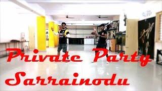 Private Party Dance Video | Sarrainodu | Allu Arjun Rakul Preet Singh | Arun Vibrato Choreography