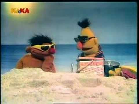 Classic Sesame Street Ernie and Bert at the beach again