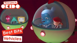 Messy Goes to Okido - Vehicles Best Bits! | Cartoons For Children