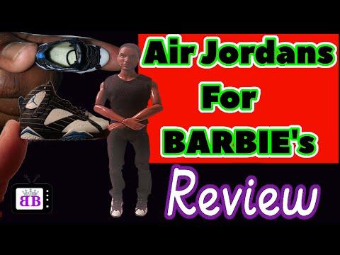 Air Jordan's For Barbie Dolls Haul & Review-  Ken Doll Shoes & 1:6 Fashion/Action Figures