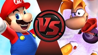 MARIO vs RAYMAN! Cartoon Fight Club Episode 64