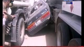 حادث سير في السماوه من قناة العراقيه برنامج وقفه مروريه