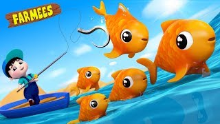 12345 Once I Caught A Fish Alive | Kids Nursery Rhymes | Songs For Children | Baby Videos