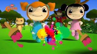 Canım kardeşim çizgi film izle - Müge ve Mine karakterleriyle renkleri öğreniyorum