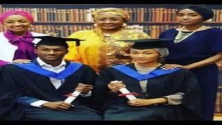 President Buhari's children, Zahra and Yusuf, gradute from Surrey University