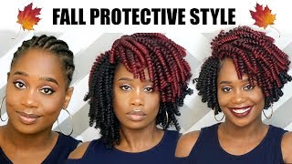 Crochet Braids Tutorial: Fall Inspired Protective Style using Kima Kalon | MissKenK