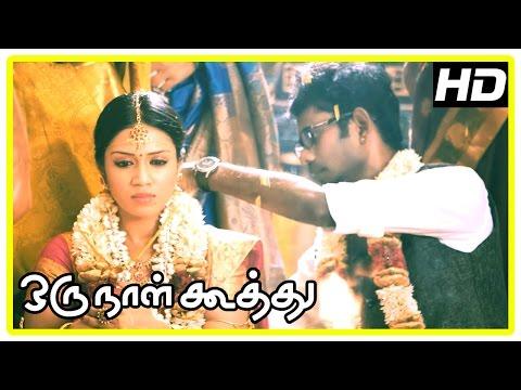 Oru Naal Koothu Tamil movie | scenes | Maangalyamae song | Ramesh-Nivetha and Dinesh-Mia unite