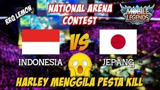 Harley Menggila Kasihan Musuh nya Ngotot Banget Indonesia vs Jepang National Arena Contest 22102017