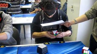 Marcell Endrey Rubik's Cube blindfolded former World Record 28.80s