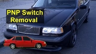 PNP Park neutral position switch replacement cleaning. Error code P0705, Volvo 850, S70, etc. - VOTD