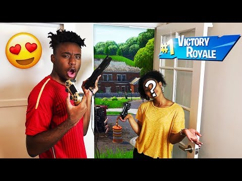 My Girl Duos Partner CAME To my House to WIN HER FIRST FORTNITE GAME EVER