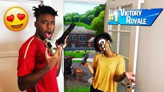My Girl Duos Partner CAME To my House to WIN HER FIRST FORTNITE GAME EVER!
