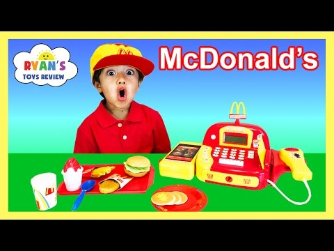 watch McDonald's Cash Register Toy Pretend Play Food Cookie Monster Happy Meal Trolls Toys For Kids