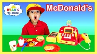 McDonald's Cash Register Toy Pretend Play Food Cookie Monster Happy Meal Trolls Toys For Kids