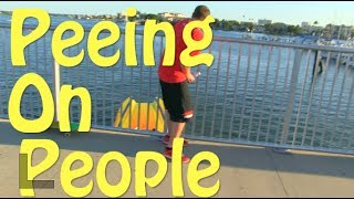 PEEING ON PEOPLE PRANK GONE WRONG! BOAT CRASHES! Clearwater Beach
