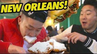 NEW ORLEANS FOOD CRAWL (Cafe Du Monde, Po Boys) - Fung Bros Food