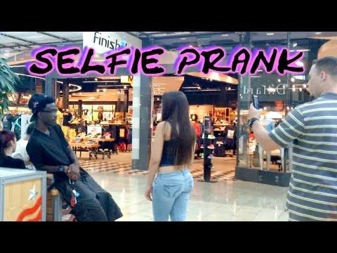 Selfie SnapChat Prank (pretending to take pictures of people)