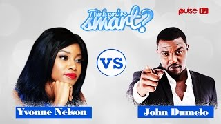PULSE TV - Think You're Smart -  Season 1, Episode 9 - Yvonne Nelson vs John Dumelo