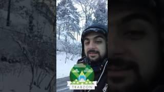 تغطية يوم الثلوج في مدينة #طرابزون بتاريخ 16.فبراير.2017