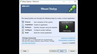 How to Create a Portable Application with VMware Thinapp Enterprise?