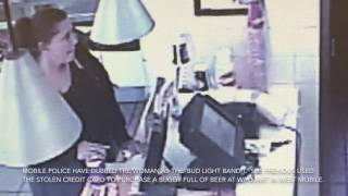 Bud Light Bandit strikes again with stolen credit card
