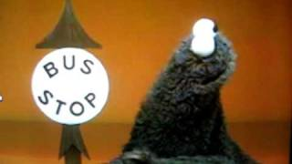 Sesame Street-Cookie Monster and the Bus Stop Sign.AVI