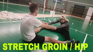 BADMINTON STRETCHING AND FLEXIBILITY #2 - GROIN / HIP
