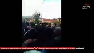 شاهد كيف ردت قوات الأمن بجرادة قبل قليل على النشيد الوطني و شعار الله الوطن الملك