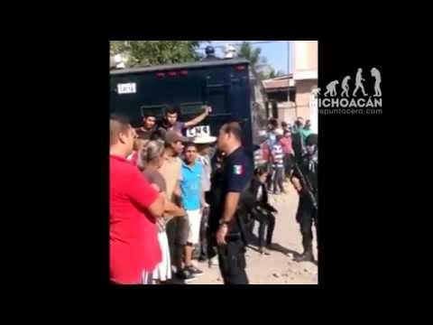 Video durante y después del enfrentamiento en Apatzingán