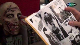 Coleção - HQS Os mortos Vivos (TWD) Morte do Gleen pelo Negan com a Lucille.
