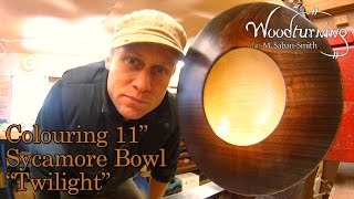#42 Woodturning How to Stain and Colour an 11