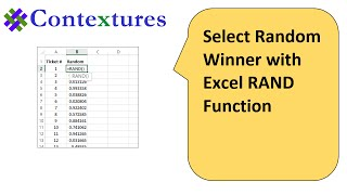 Select Random Winner With Excel RAND Function