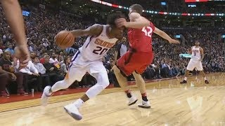 Josh Jackson Got Poeltl Leaning! Devin Booker Injury Suns vs Raptors 2017-18 Season